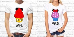 """Парные футболки """"Пирожные"""""""