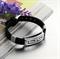 Мужской браслет из силикона и стали в греческом стиле - фото 10115