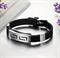 Мужской браслет из силикона и стали в греческом стиле - фото 10116